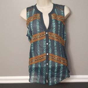 Anthro Bohemian V-Neck Top